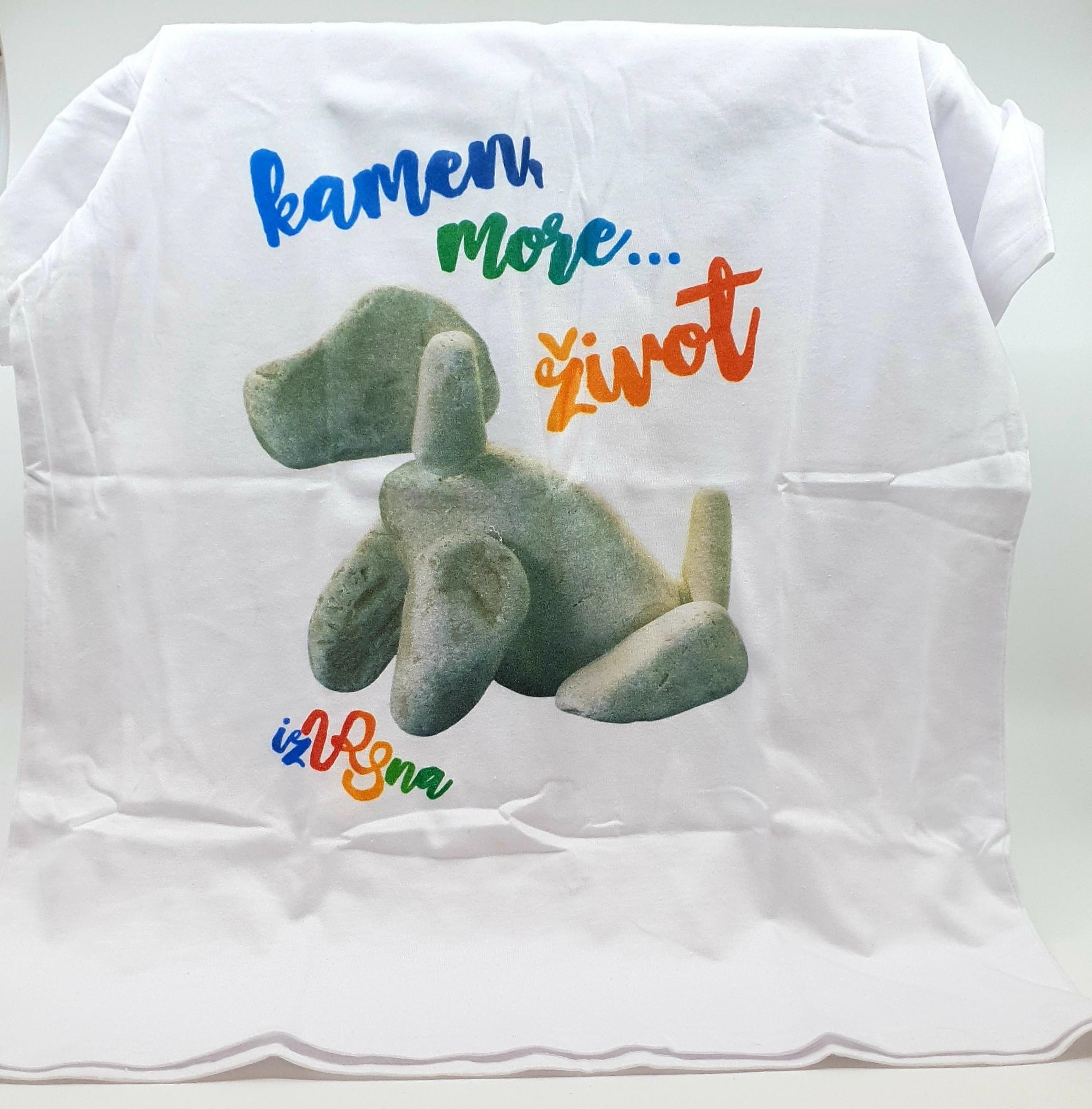 T shirt majica Kamen, more... život