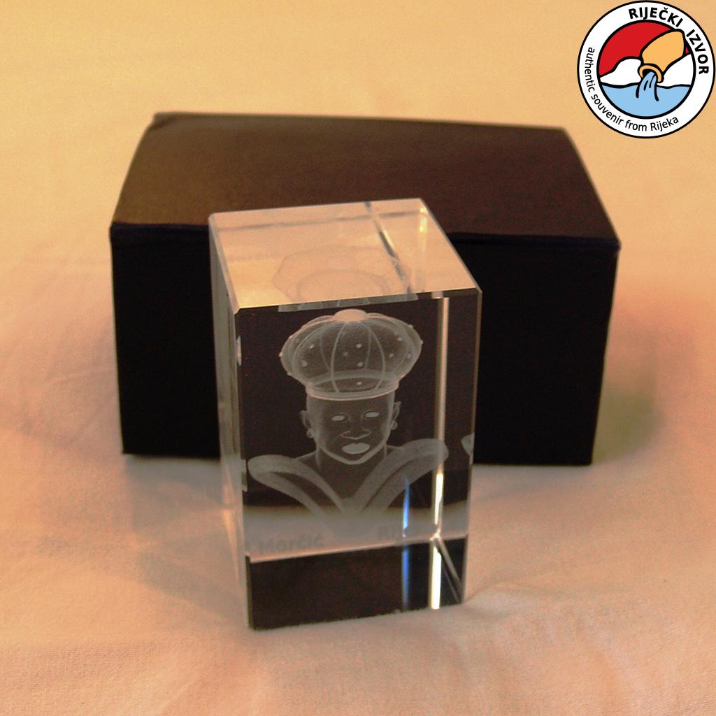 3D Morčić – kristalna prizma (60x60x90mm)