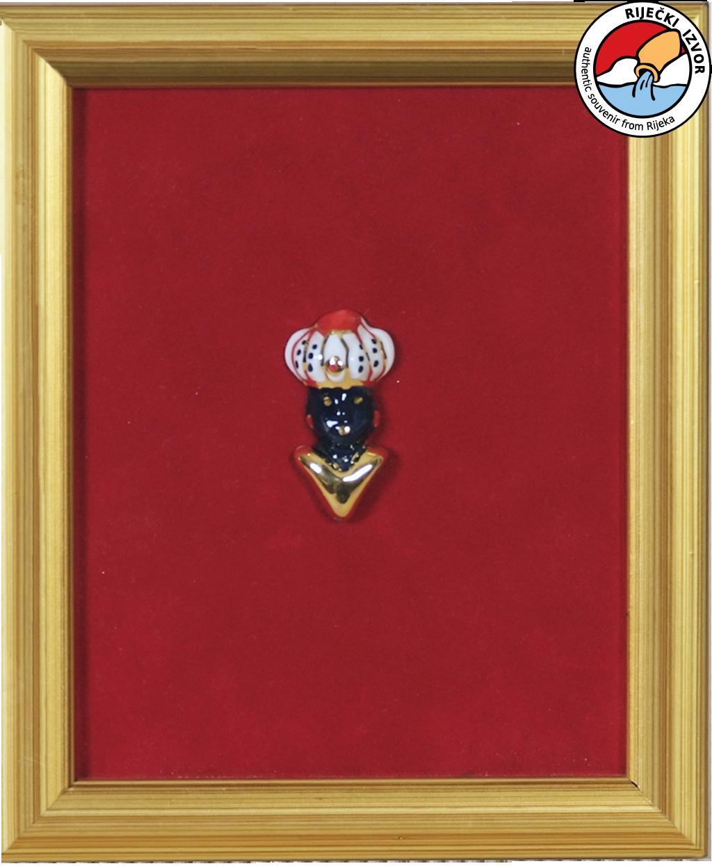 MORČIĆ - uokvireni keramički suvenir 13x15 cm