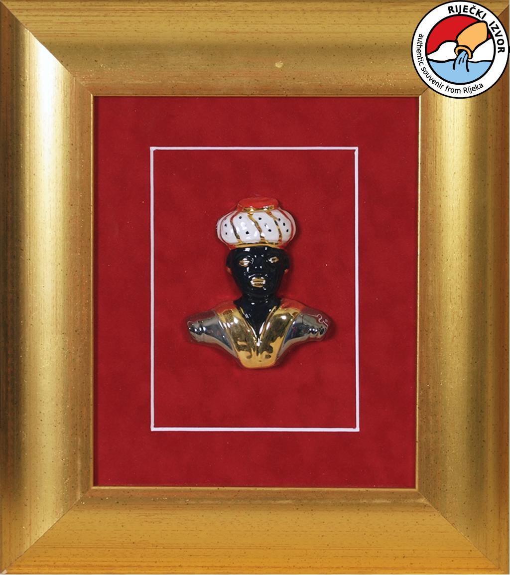 MORČIĆ - uokvireni keramički suvenir 29x33 cm