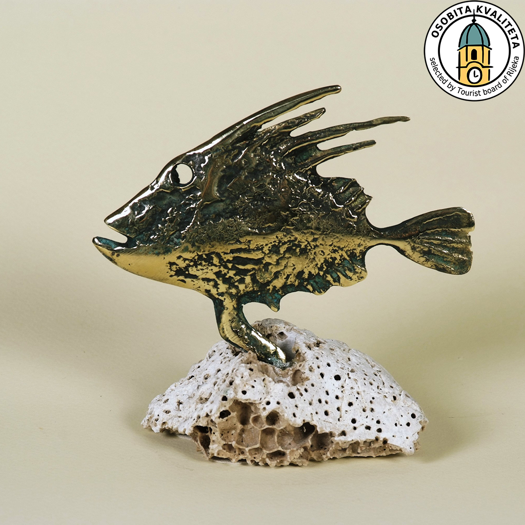 JOHN DORY/on rock, from the beach, in bronze/