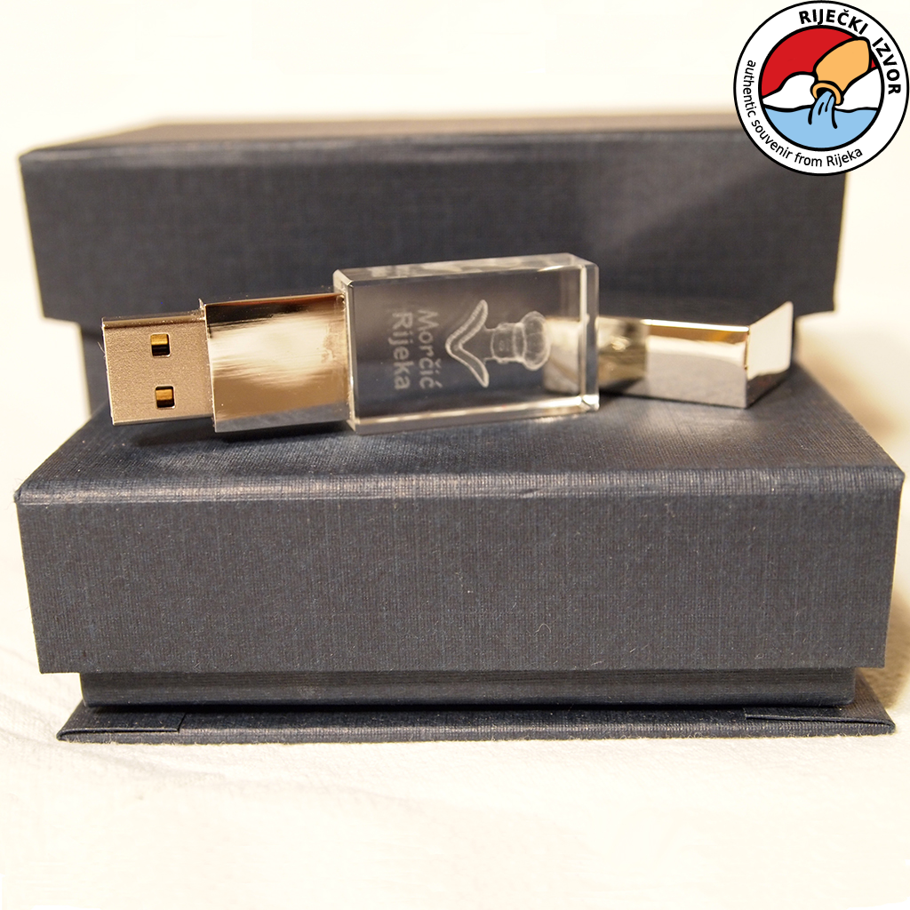 3D Morčić USB stick crystal memory 4 GB