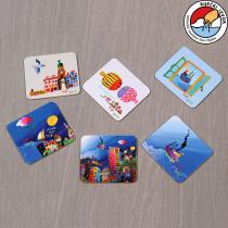 Glass pads with printed Vojo Radoičić motif