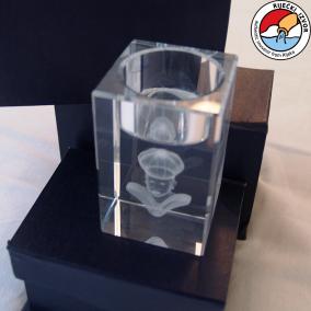 3D Morčić – crystal prism candle holder measuring 50x50x80mm