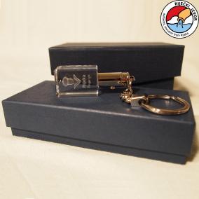 3D Morčić – crystal key chain