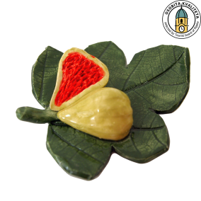 FIG LEAF WITH A FIG - magnet