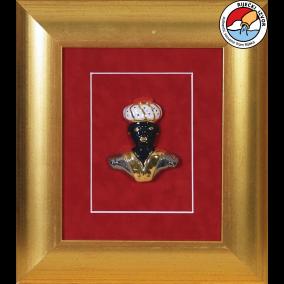 MORČIĆ - framed ceramic souvenir 29x33 cm