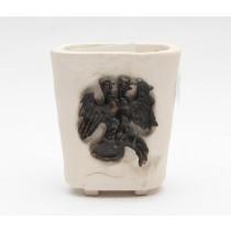 Čaša - grb (keramika s umetnutim grbom grada Rijeke od bronce)