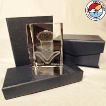 Moretto 3D – prisma di cristallo di dimensioni 50x50x80mm