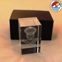Moretto 3D – prisma di cristallo di dimensioni 60x60x90mm