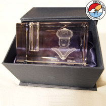 Moretto 3D – prisma di cristallo, portamatite di dimensioni 50x50x80mm